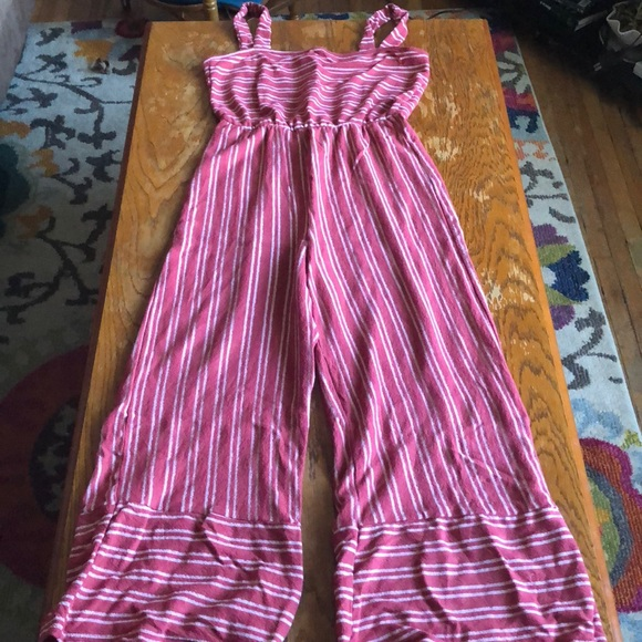 058724f8149 Caution To The Wind Pants - Caution To The Wind Red and White Stripe  Jumpsuit